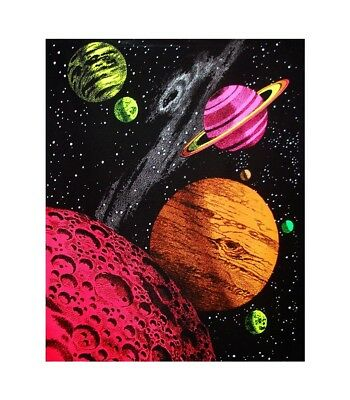 Galaxy Blacklight Tapestry Harmonic Convergence Cloth Wall Hanging