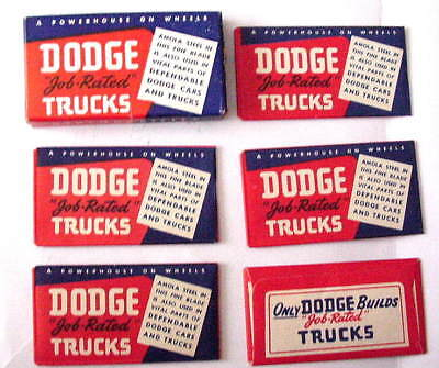 Vintage   DODGE CARS TRUCKS FULL BOX of DOUBLE EDGE  Safety Razor Blades