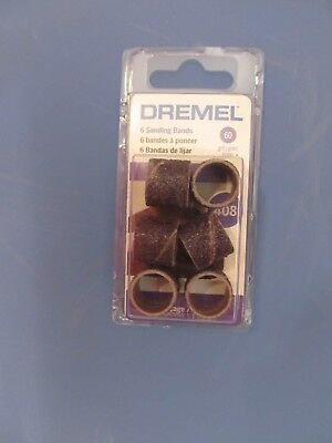 "NEW Dremel 408 Sanding Drum 60 grit 1/2"" Rotary Tool Band Sleeve"