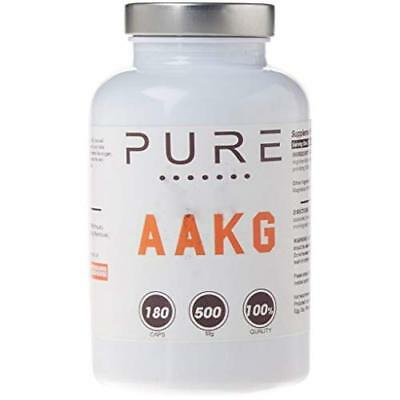 Bodybuilding Warehouse 500mg Pure Arginine Alpha Ketoglutarate (AAKG) 180 Capsul