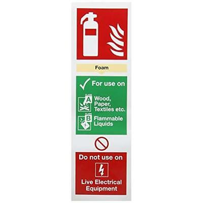 "SIGNSLAB F202/S Safety Sign ""Fire Extinguisher Foam"", Self-Adhesive, 280 mm x 90"