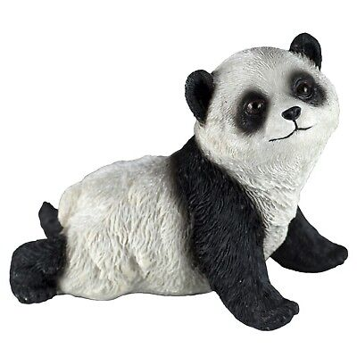 Panda Crawling Figurine 4 Inch Long Resin New!