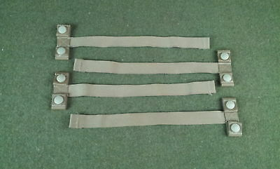 """New MOLLE PALS Straps 1"""" Webbing 12"""" Long With Snaps Lot of 4"""