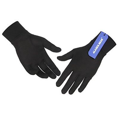 NEW with tags Alaska Bear Pure Silk Liner Gloves, Black, Unisex, size SM