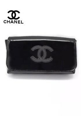 8b6edb00f748 CHANEL VIP BELT Bag fanny pack clutch AUTHENTIC Bum Waist Black ...
