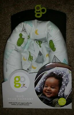 Go Goldbug Duo Head Support Baby Car Seat Stroller Carrier Unisex Washable