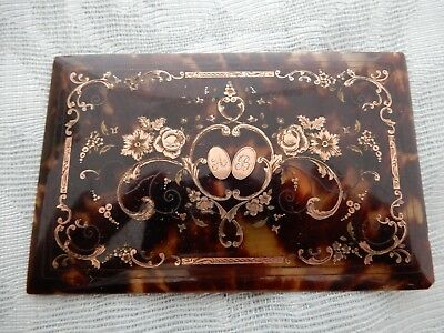 Late 19th Century Quality Inlaid Panel / Box Lid from an old estate not cleaned