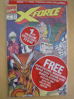 X-FORCE 1 : SET of 4, NEW & SEALED with 4 DIFFERENT TRADING CARDS.1991.MARVEL