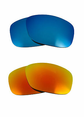a9661e6a17 Best SEEK Polarized Replacement Lenses for Oakley SLIVER Blue Fire Red  Mirror