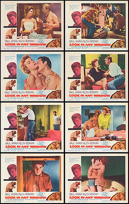 LOOK IN ANY WINDOW orig lobby card set PAUL ANKA/RUTH ROMAN 11x14 movie posters