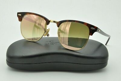 Ray Ban RB 3016 CLUBMASTER Sunglasses 990 7O Red Tortoise Copper Gradient  Flash d79671a30b