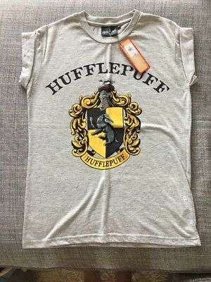 8a40ba67 Grey Womens / Girls Harry Potter Hufflepuff T-shirt New With Tags Size 8