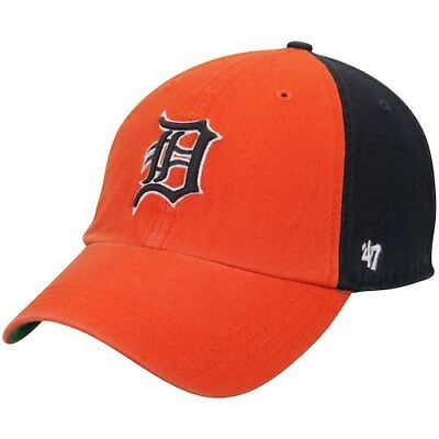 detailed look 662c1 ad203  47 Detroit Tigers Orange Navy Flagstaff Clean Up Adjustable Hat.