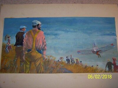 1959 Orignal Oil On Board Painting By Bob Antler For True Magizne Cover *nr