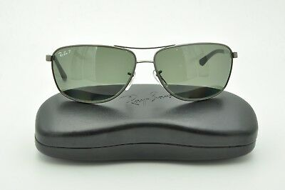 acd3936a7d8c Ray Ban RB 3506 Sunglasses 029 9A Matte Gunmetal   Green Polarized Lenses  64mm