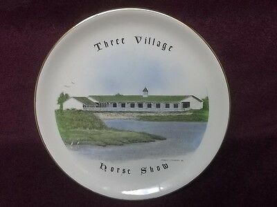 """Three Village Horse Show Vintage 1982 Long Island New York State 7.25"""" Plate"""