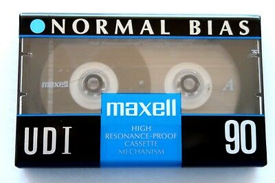 Maxell Udi 90 Normal Position Type I Blank Audio Cassette - Japan 1991