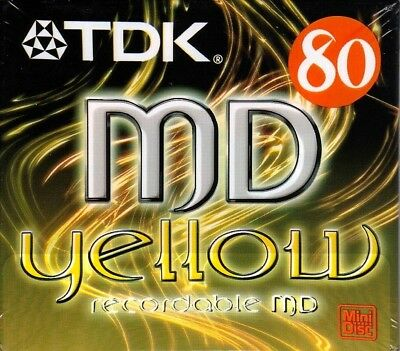Tdk Md 80 Yellow Recordable Blank Minidisc - Sealed