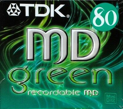 Tdk Md 80 Green Recordable Blank Minidisc - Sealed