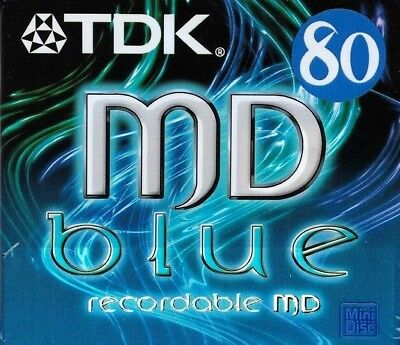 Tdk Md 80 Blue Recordable Blank Minidisc - Sealed
