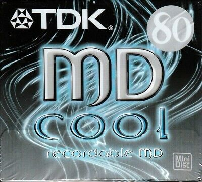 Tdk Md 80 Cool Recordable Blank Minidisc - Sealed