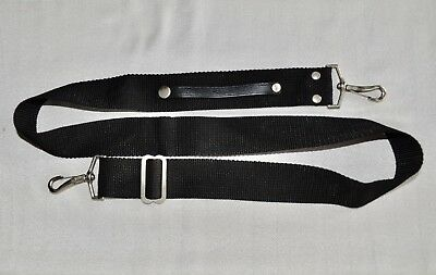 Vintage Black Shoulder Neck Strap Metal Clip For Slr/dslr Camera Used *8*