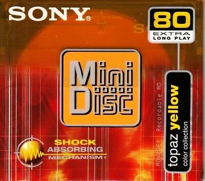 Sony Md 80 Topaz Yellow Recordable Blank Minidisc - Sealed