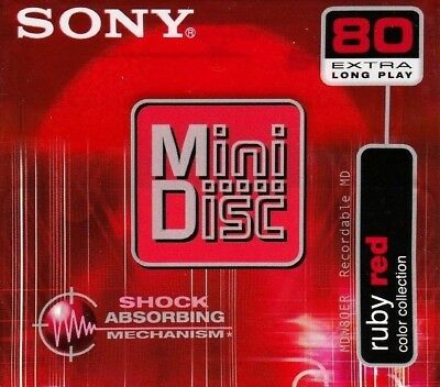 Sony Md 80 Ruby Red Recordable Blank Minidisc - Sealed