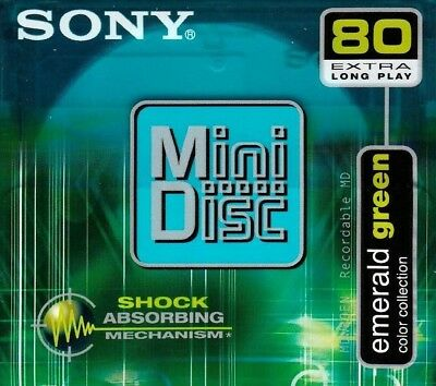 Sony Md 80 Emerald Green Recordable Blank Minidisc - Sealed