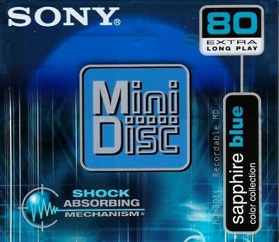 Sony Md 80 Sapphire Blue Recordable Blank Minidisc - Sealed