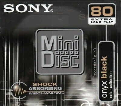 Sony Md 80 Onyx Black Recordable Blank Minidisc - Sealed