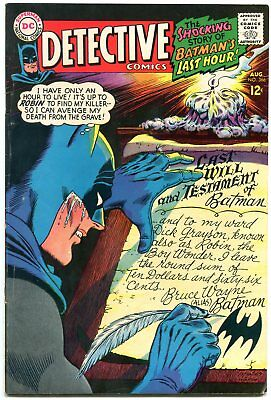 DETECTIVE COMICS #366 1967 DC Silver Age-BATMAN AND ROBIN fn