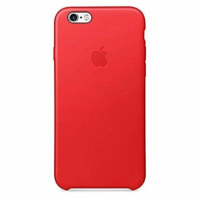 Apple Cell Phone Case for iPhone 6 & 6s - Retail Packaging - Leather Red