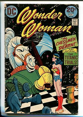 WONDER WOMAN #208 1973-DC-CHESSMEN OF DEATH-good