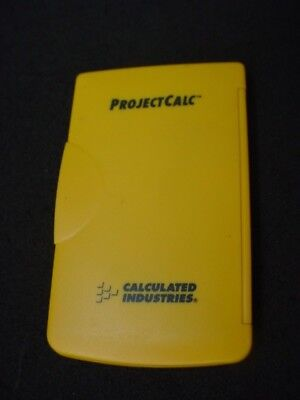 Project Calculator Model 8515 Building Project Calculated Industries