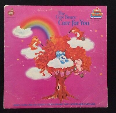 VTG 1983 Care Bears Record Kids Stuff 33 1/3 RPM CARE FOR YOU ALBUM