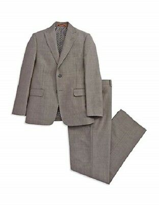Tallia Boy's Orange Pinstriped Blazer & Pants Set (20R, Grey)