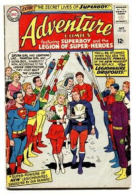 ADVENTURE-#337 comic book 1963-DC-SUPERBOY-LEGION OF SUPER-HEROES