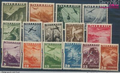 Austria 598-612 (complete issue) with hinge 1935 Airmail (8103680