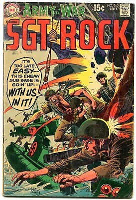 Our Army At War #210 1969-DC Silver Age War comic- SGT ROCK G/VG