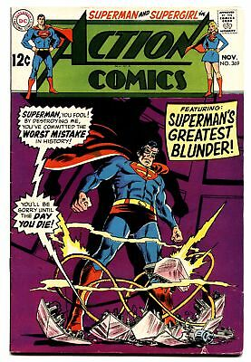 ACTION COMICS #368 comic book 1968-SUPERMAN-SUPERGIRL ISSUE-DC FN
