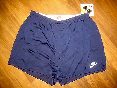 4713bf15fe4013 NWT Vtg 80s NIKE Navy MENS 3XL BIG Swoosh XXXL athletic GRAY TAG shorts NOS  NEW