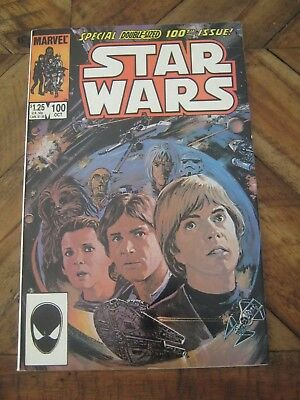 Star Wars #100 October 1985 Marvel - Double-Sized issue - painted cover        A