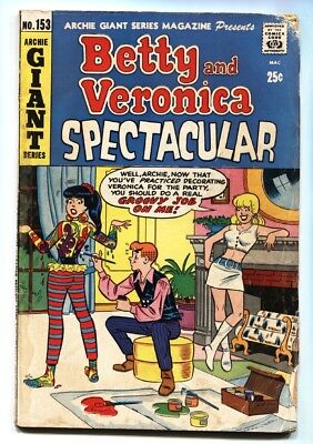Archie Giant Series #153 1968- Betty and Veronica Spectacular Body Painting!