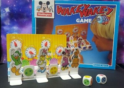 VINTAGE Collectors Board Game WAKEY WAKEY Disney Edition by Waddingtons RARE 90s