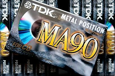 Tdk Ma 90 Metal Position Type Iv Blank Audio Cassette - 1997