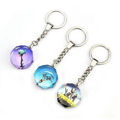 2018 New Fortnite Key rings for fort night Personalised crystal  keyring  gift