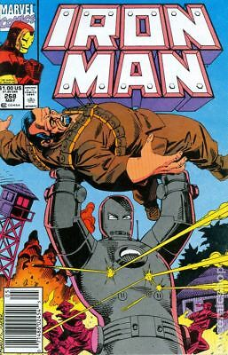 Iron Man (1st Series) Mark Jewelers #268MJ 1991 FN- 5.5 Stock Image Low Grade