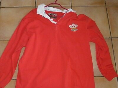 Wales Rugby Union Team Shirt (Cotton Traders) Long Sleeves