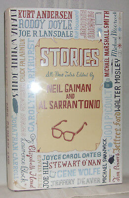 Neil Gaiman Al Sarrantonio STORIES First British ed HC DJ Joe Hill Richard Adams